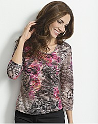 Gerry Weber Printed Burn Out Jersey Top