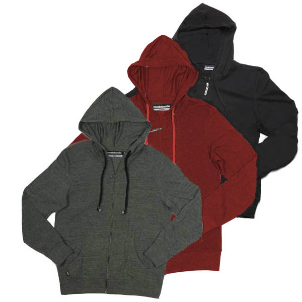 Hoodie Buddie Mens Zip Front with Built In Earphones HB3 Technology