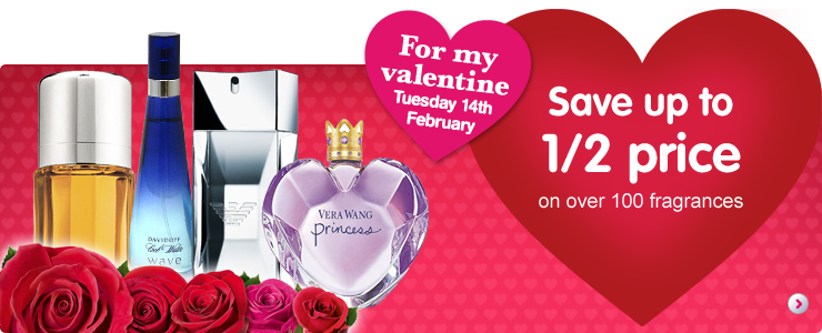 Valentines Day Gifts Ideas at Boots - half price perfume - new discount code!