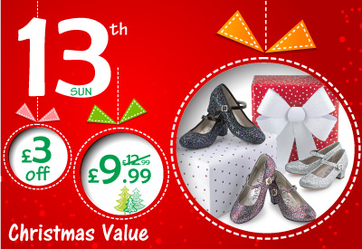 13th Dec - £3 off Girls Party Shoes