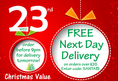 23rd Dec - FREE Next Day Delivery