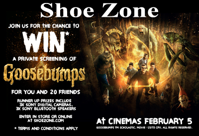 Join us today for the change to win a private screening of Goosebumps for you and 20 friends!