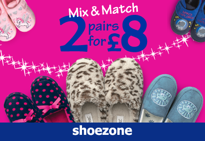 Mix & Match 2 for £8
